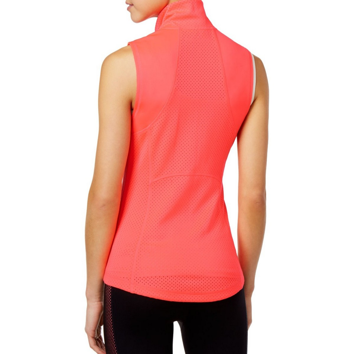 TOMMY HILFIGER SPORT NEW Women/'s Perforated Active Wear Vest Jacket Top TEDO