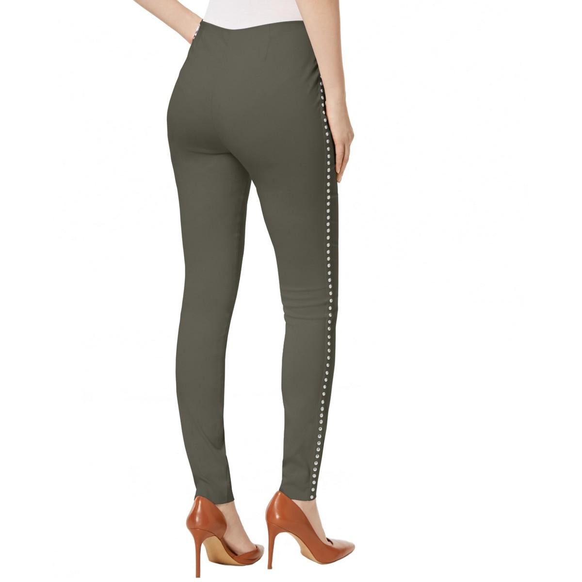 INC NEW Women/'s Beaded Curvy Mid Rise Pull On Skinny Pants TEDO