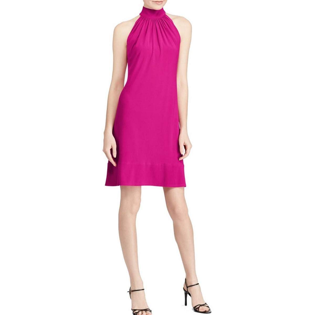 93f1782920 Details about AMERICAN LIVING NEW Women s Pink Mock Neck Shift Dress 18 TEDO
