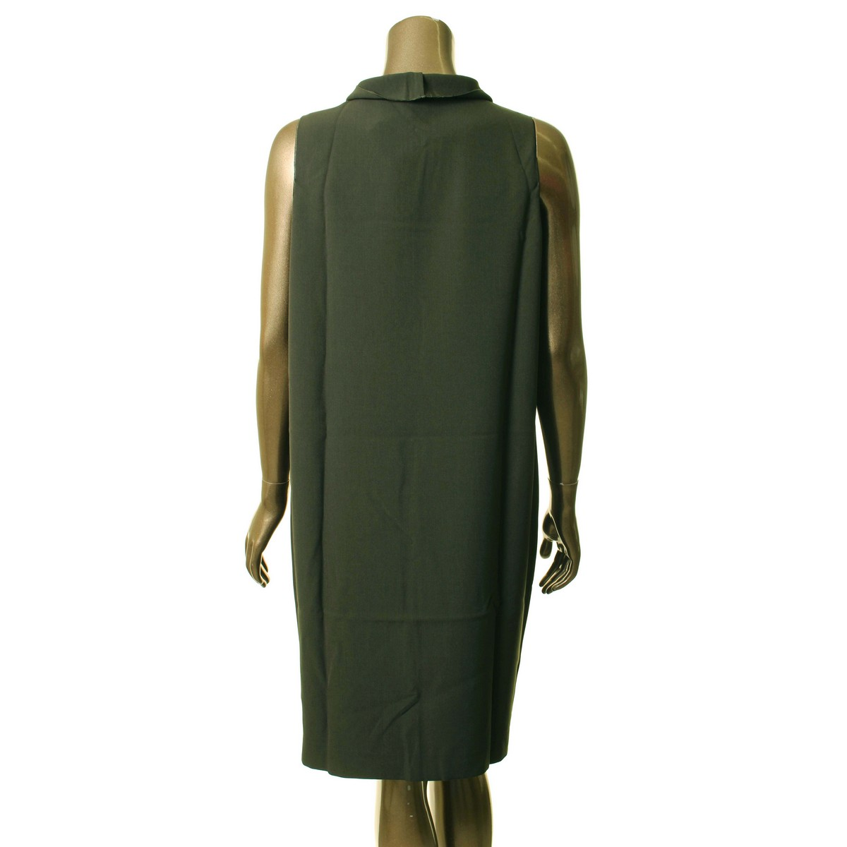 ANNE-KLEIN-NEW-Women-039-s-Sleeveless-Cowl-Neck-Shift-Dress-TEDO thumbnail 4