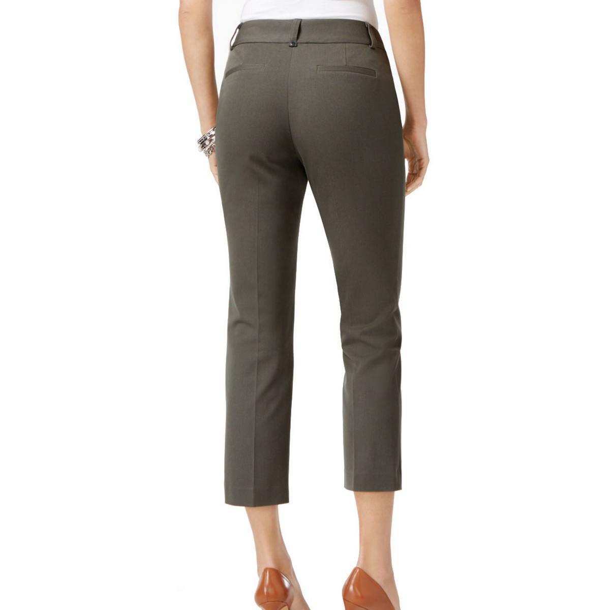 ALFANI-NEW-Women-039-s-Tummy-Control-Skinny-Capris-Cropped-Pants-TEDO thumbnail 4