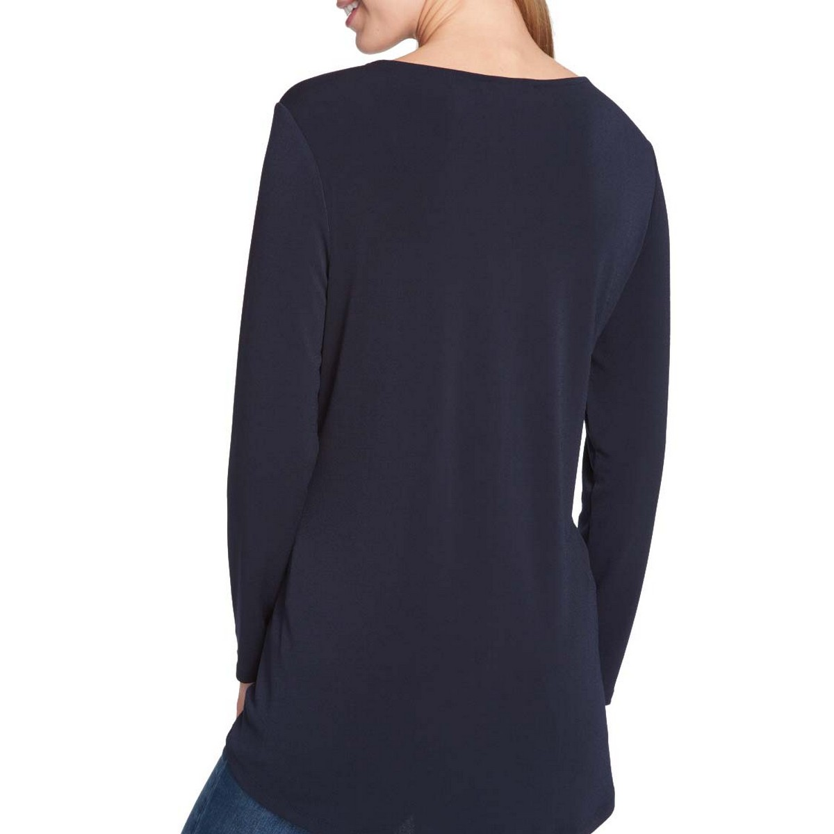 TOMMY-HILFIGER-NEW-Women-039-s-Long-Sleeve-Keyhole-Blouse-Shirt-Top-TEDO thumbnail 6