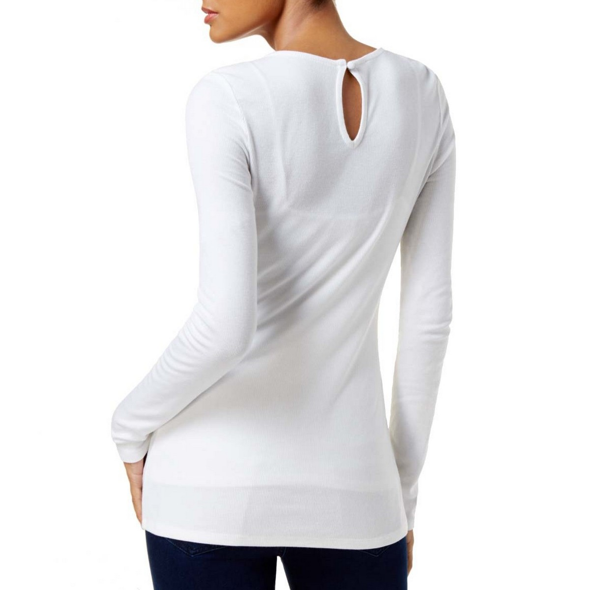 INC-NEW-Women-039-s-Keyhole-Long-Sleeve-Casual-Shirt-Top-TEDO thumbnail 3