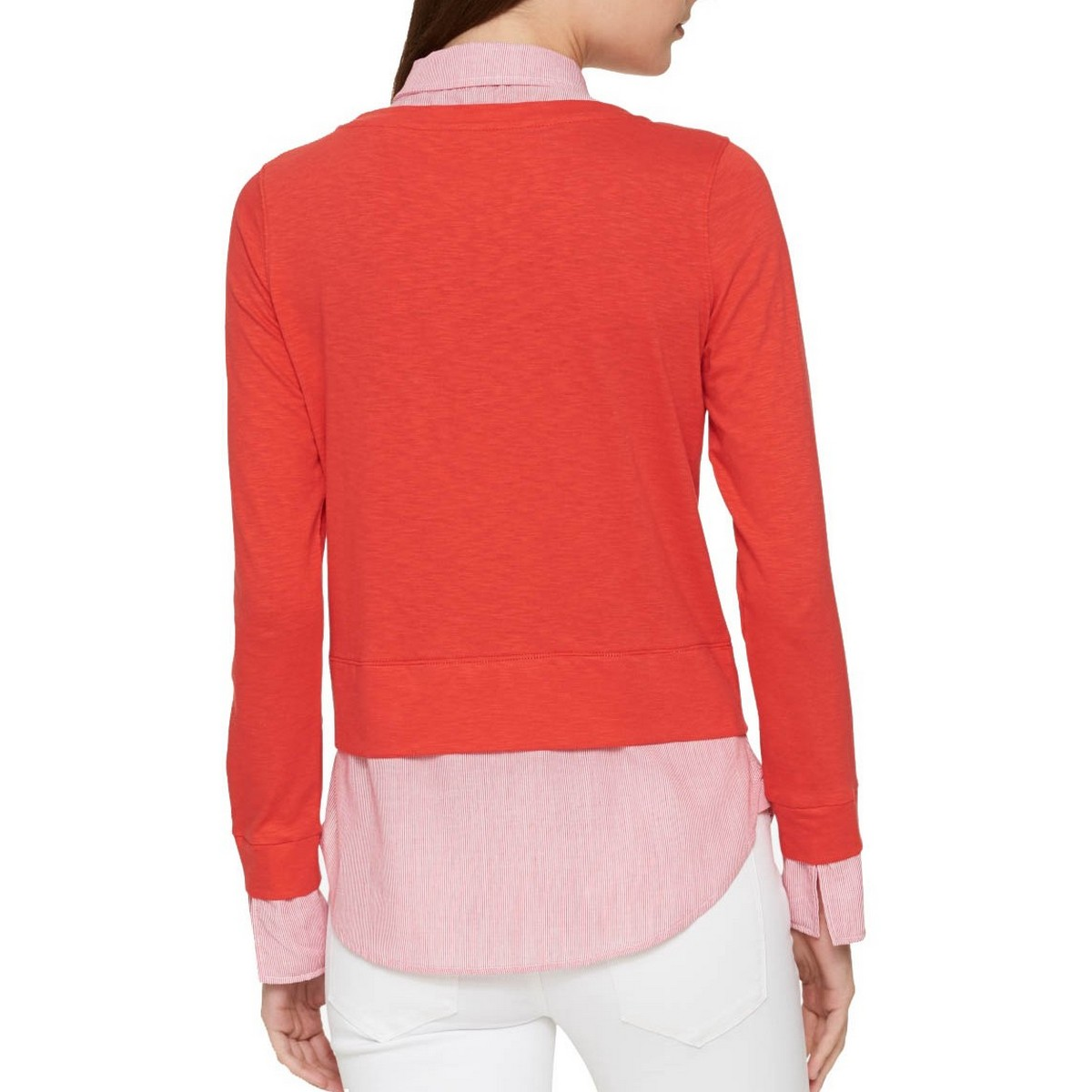 TOMMY-HILFIGER-NEW-Women-039-s-Cotton-Layered-look-Casual-Shirt-Top-TEDO thumbnail 5