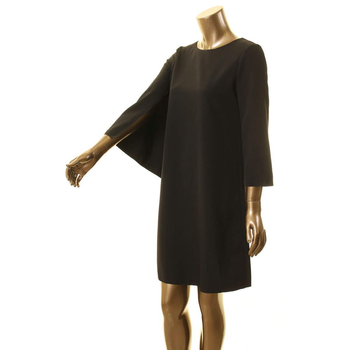 ANNE-KLEIN-NEW-Women-039-s-Cape-Crepe-Split-Sleeve-Shift-Dress-TEDO thumbnail 5