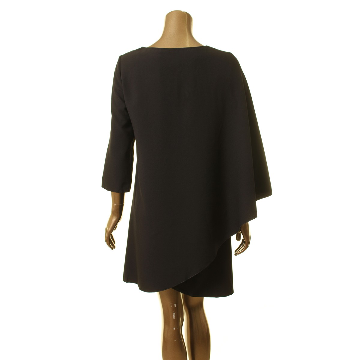 ANNE-KLEIN-NEW-Women-039-s-Cape-Crepe-Split-Sleeve-Shift-Dress-TEDO thumbnail 6