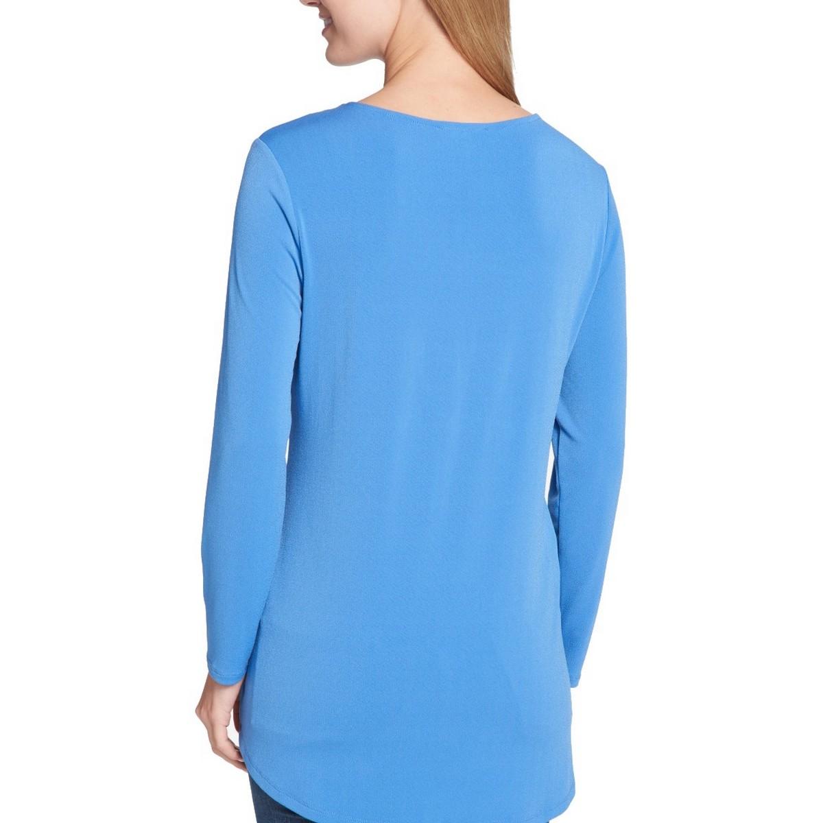 TOMMY-HILFIGER-NEW-Women-039-s-Long-Sleeve-Keyhole-Blouse-Shirt-Top-TEDO thumbnail 6