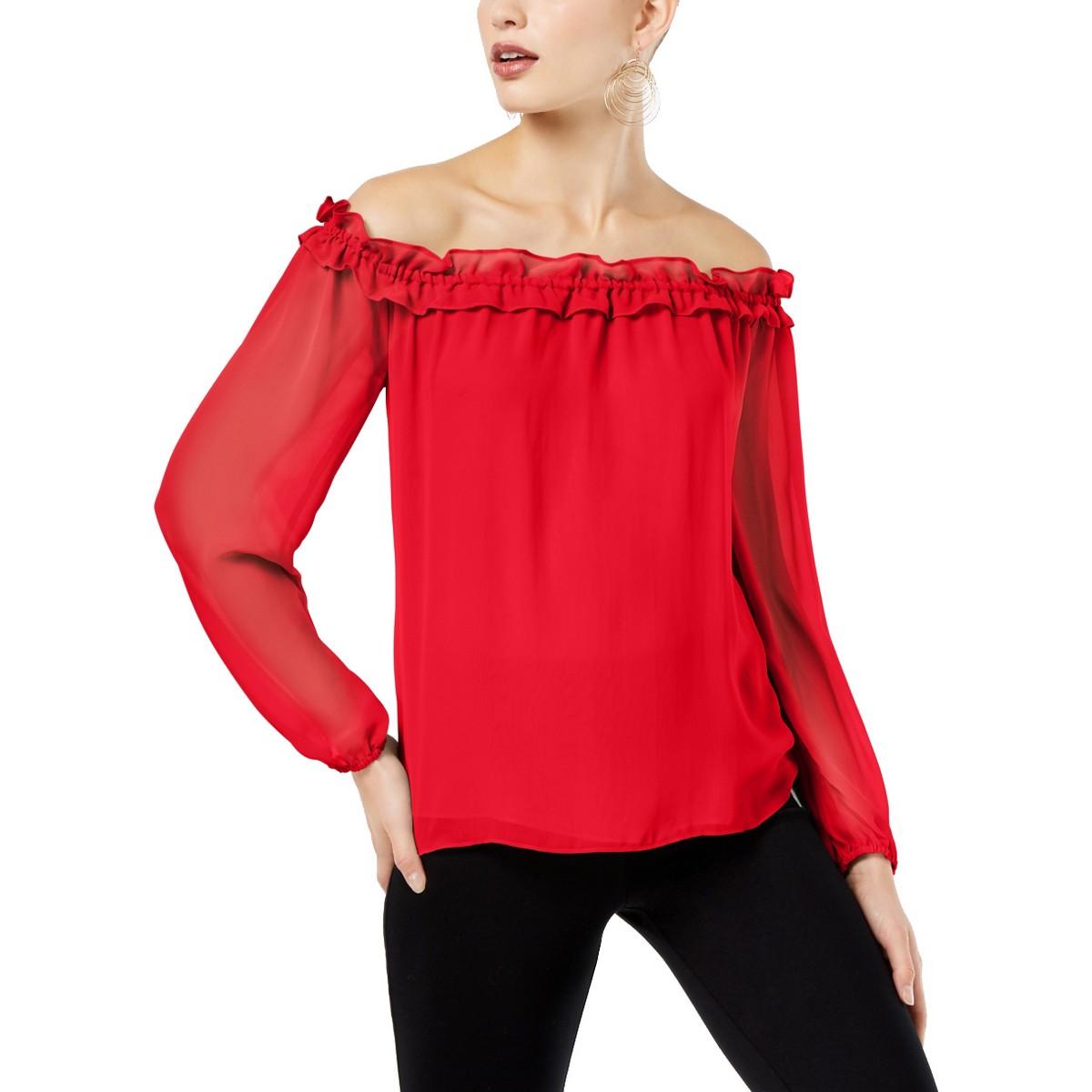 5d814aac2ae8 Inc Nuevo Mujer Hombro Descubierto con Volantes Blusa Camisa Top Tedo | eBay