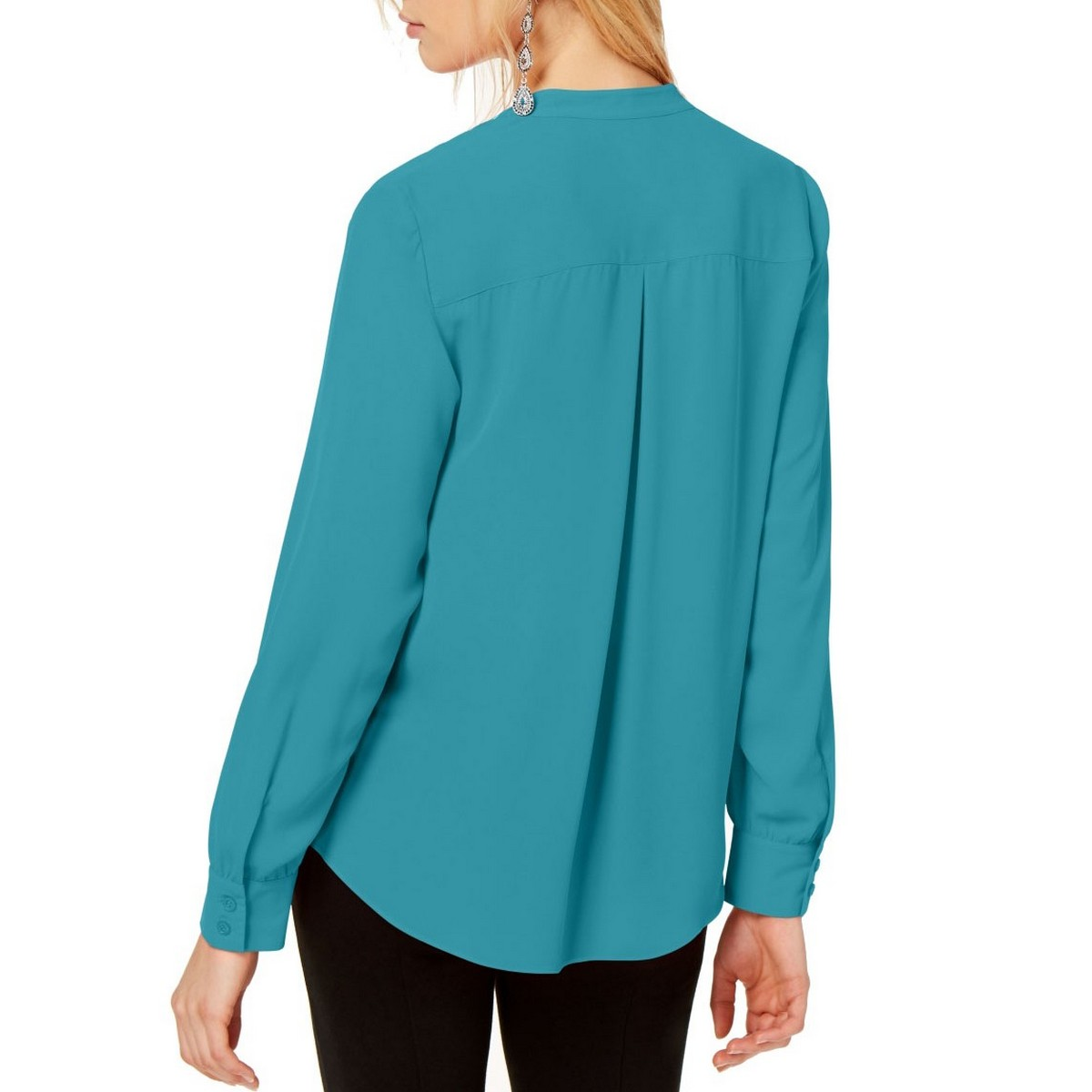 INC-NEW-Women-039-s-Zipper-pocket-Surplice-Blouse-Shirt-Top-TEDO thumbnail 4