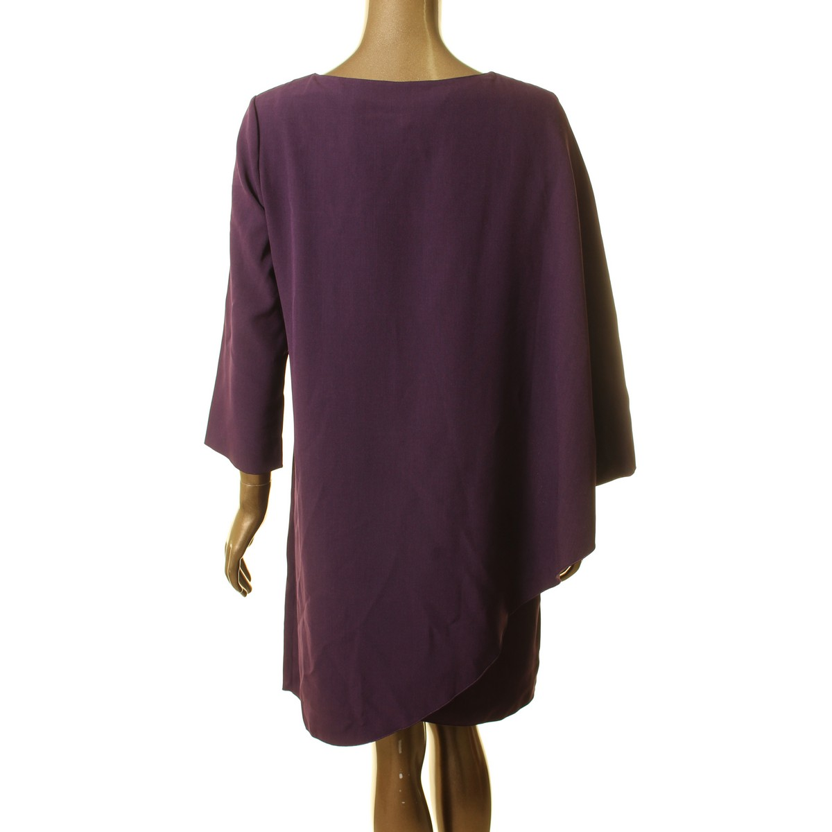 ANNE-KLEIN-NEW-Women-039-s-Cape-Crepe-Split-Sleeve-Shift-Dress-TEDO thumbnail 8