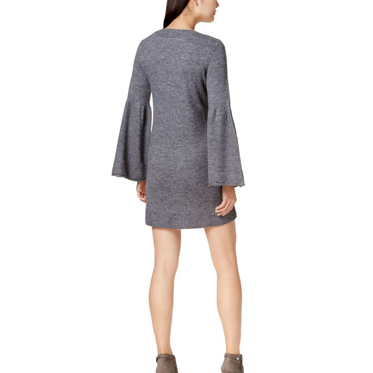 KENSIE-NEW-Women-039-s-Gray-Lantern-sleeve-Sweater-Dress-TEDO thumbnail 3