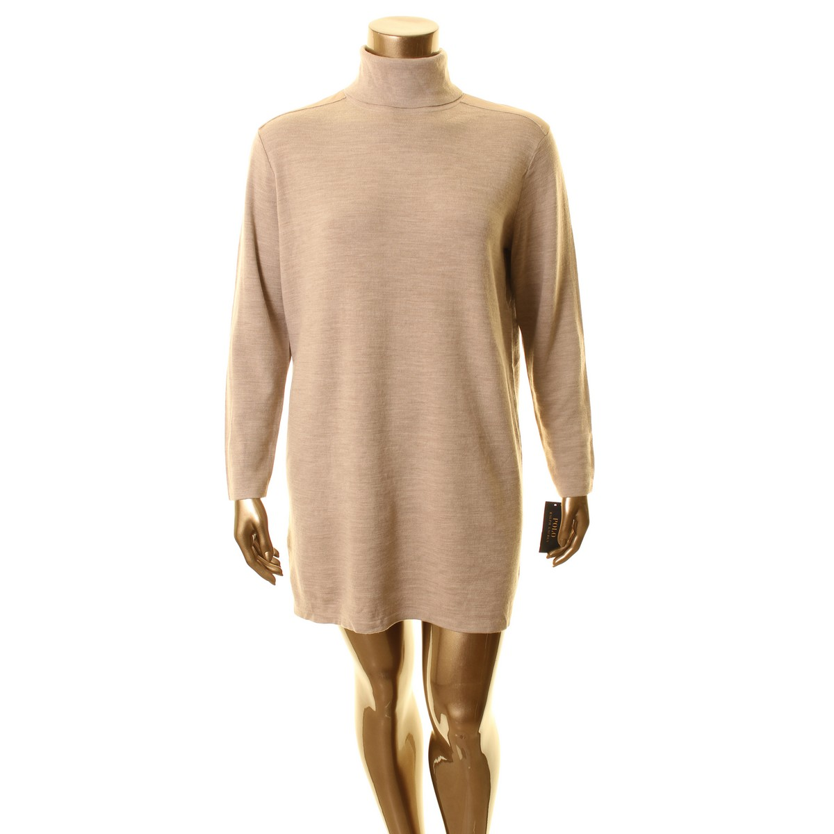 bc29e199e226 Polo Ralph Lauren Nuova Donna Marronee Manica Lunga Tubino XL Tedo  Dolcevita da ntykko3033-Vestiti