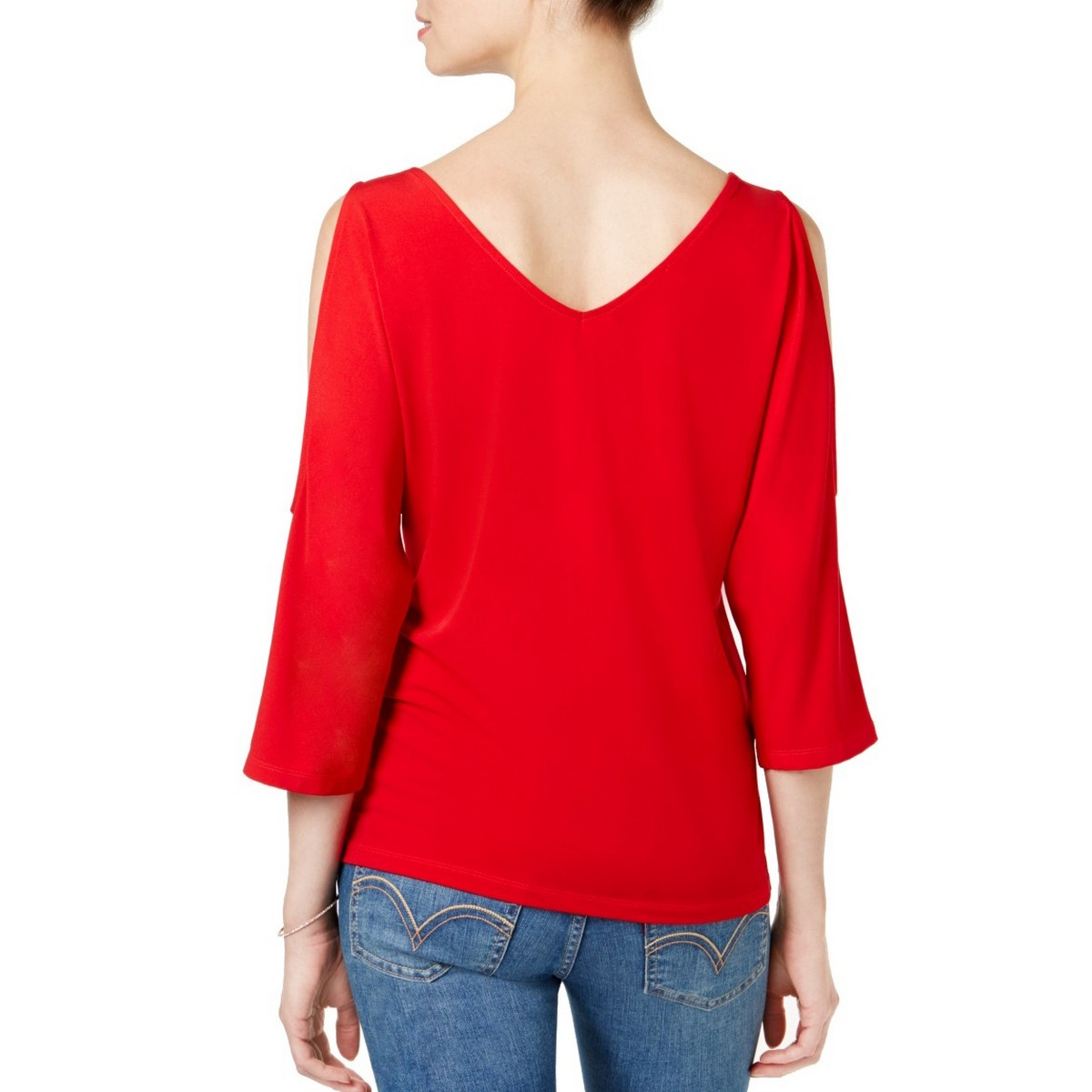 INC-NEW-Women-039-s-Studded-Cold-shoulder-3-4-Sleeve-Blouse-Shirt-Top-TEDO thumbnail 3