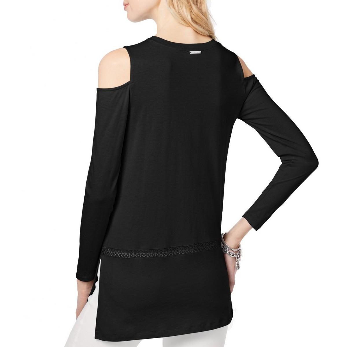 MICHAEL-KORS-NEW-Women-039-s-Turquoise-Cold-shoulder-Casual-Shirt-Top-XS-TEDO thumbnail 4