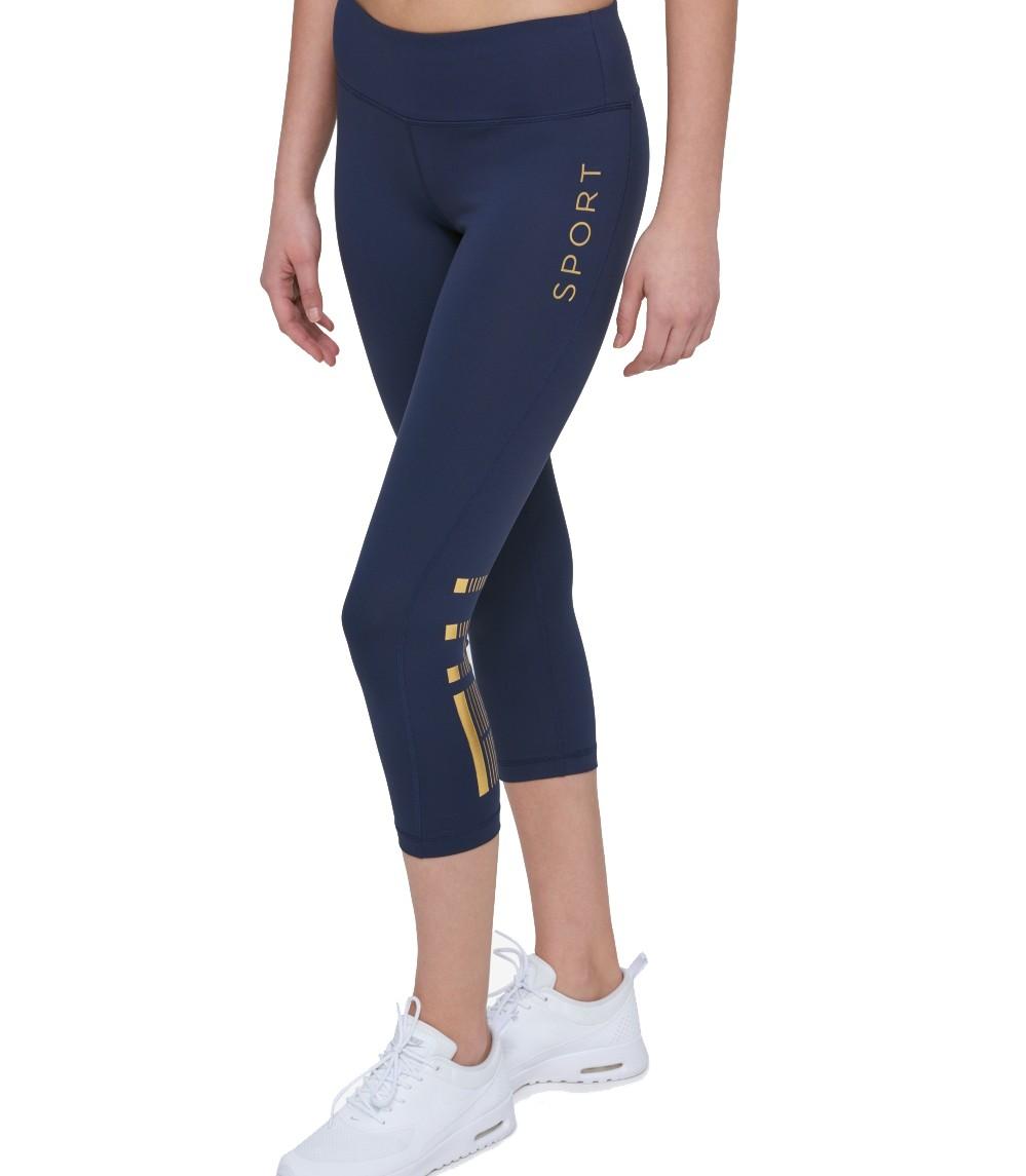 57cb5b6d TOMMY HILFIGER SPORT NEW Women's Navy Crop High-rise Active Logo ...