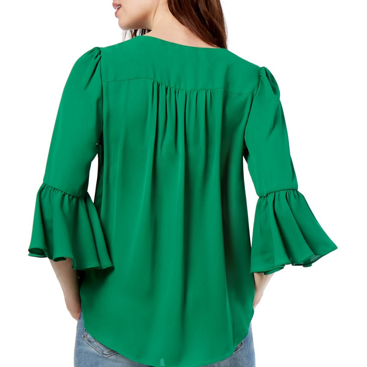 INC-NEW-Women-039-s-Surplice-Bell-Sleeve-High-Low-Blouse-Shirt-Top-TEDO thumbnail 6