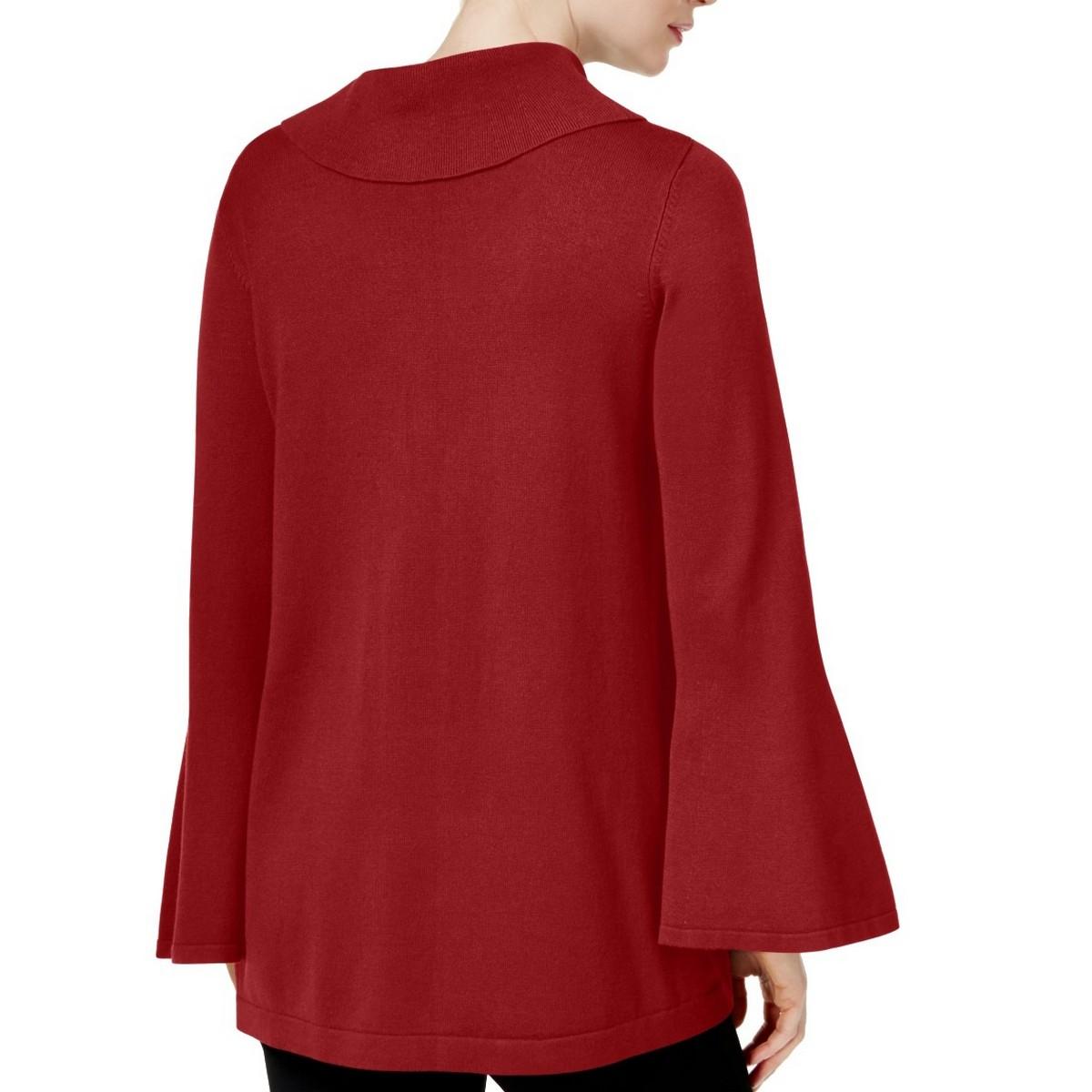 ALFANI-NEW-Women-039-s-Bell-sleeve-Cowl-Neck-Sweater-Top-TEDO thumbnail 9