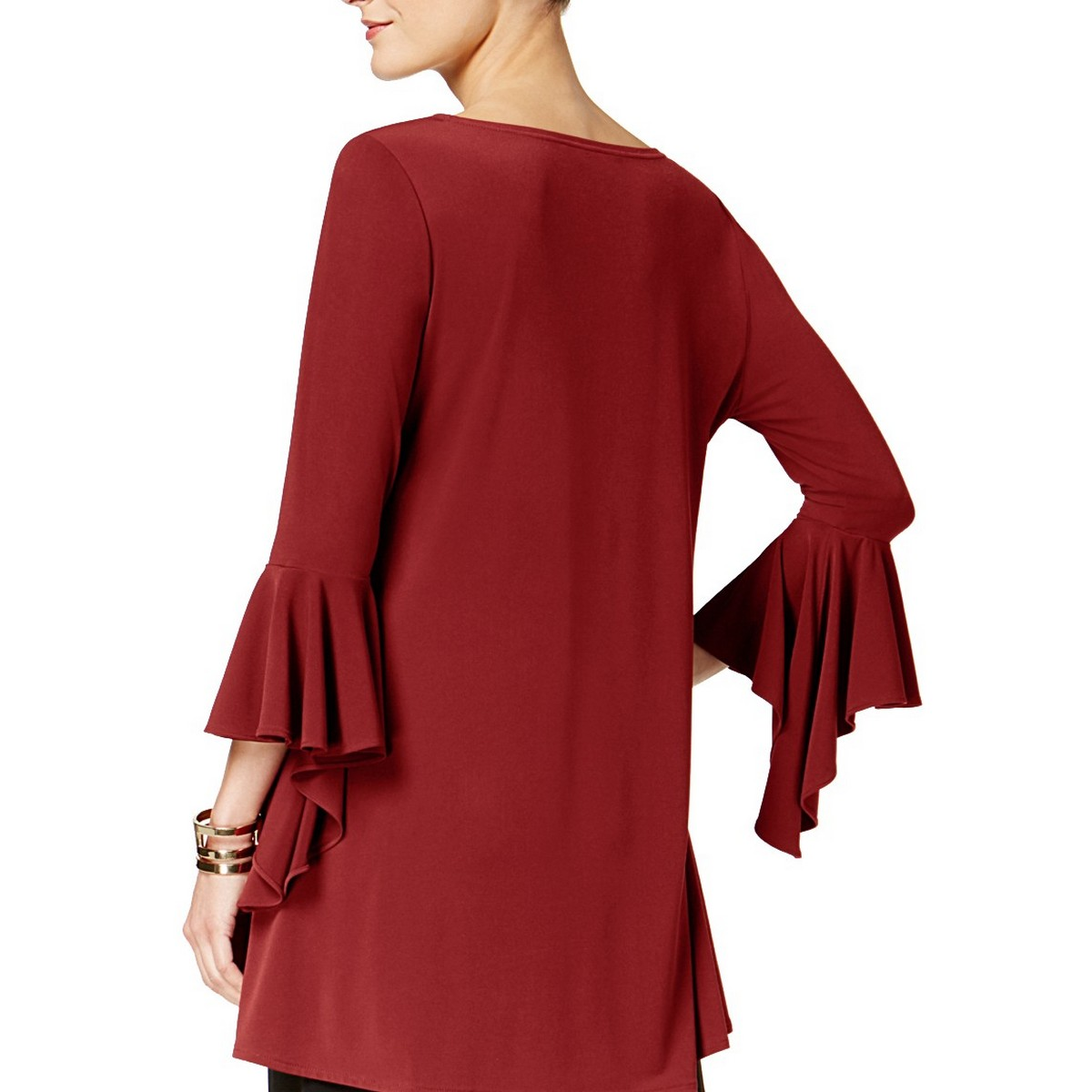 ALFANI-NEW-Women-039-s-Ruffle-sleeve-High-low-Blouse-Shirt-Top-TEDO thumbnail 5