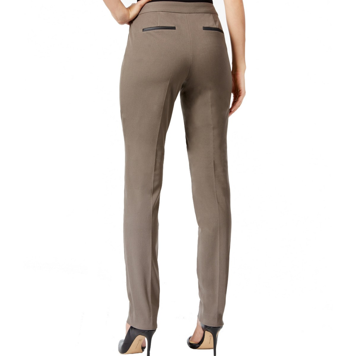 ALFANI-NEW-Women-039-s-Tummy-Control-Short-Length-Slim-Leg-Pants-TEDO thumbnail 4