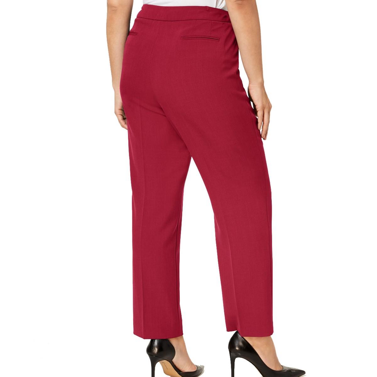 ANNE-KLEIN-NEW-Women-039-s-Plus-Size-Extended-tab-Dress-Pants-TEDO thumbnail 10