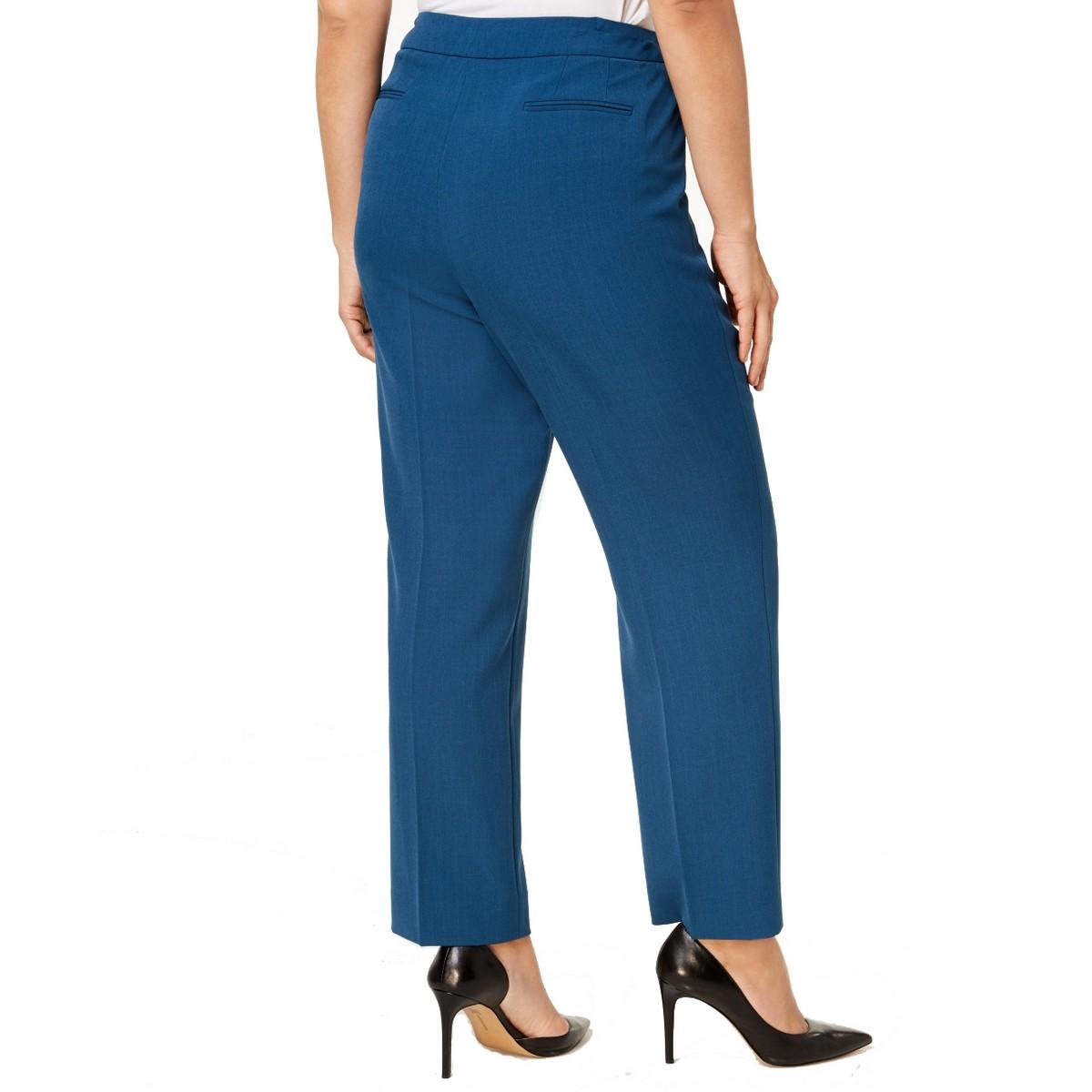 ANNE-KLEIN-NEW-Women-039-s-Plus-Size-Extended-tab-Dress-Pants-TEDO thumbnail 4