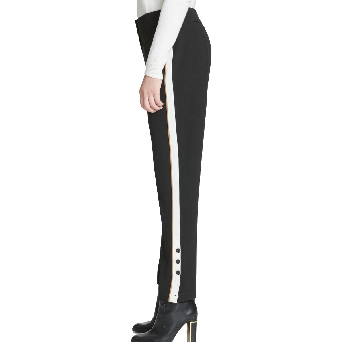 40/% OFF B16127369 Damen 77 Lifestyle Hose Sweat Pant Biker Style Zipper schwarz