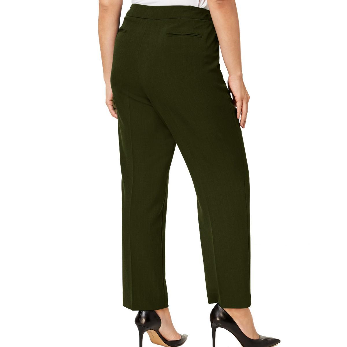 ANNE-KLEIN-NEW-Women-039-s-Plus-Size-Extended-tab-Dress-Pants-TEDO thumbnail 6