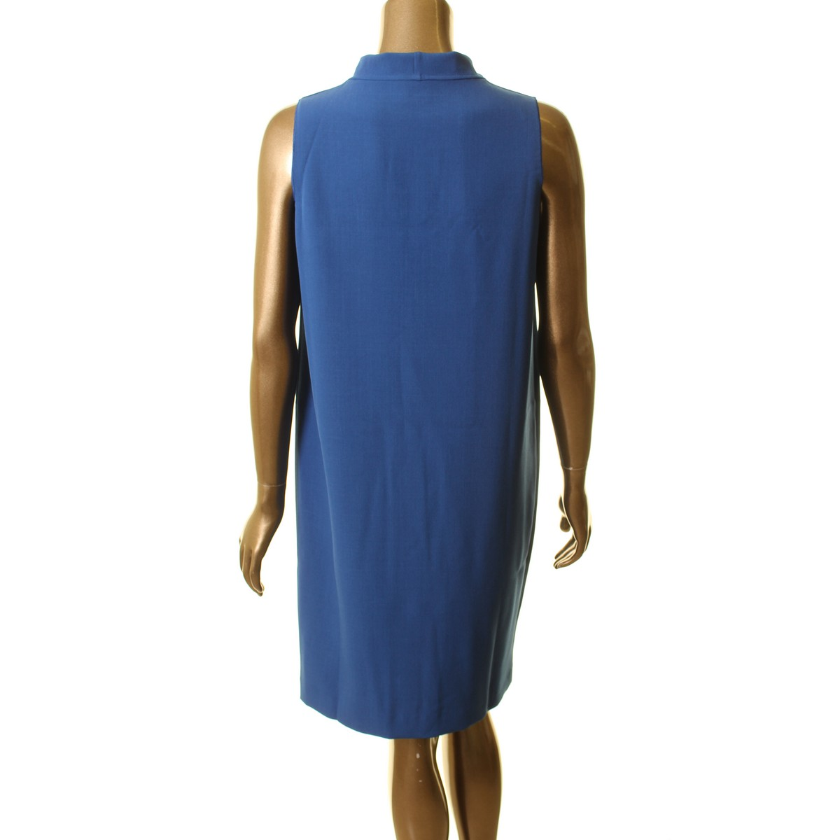 ANNE-KLEIN-NEW-Women-039-s-Sleeveless-Cowl-Neck-Shift-Dress-TEDO thumbnail 6