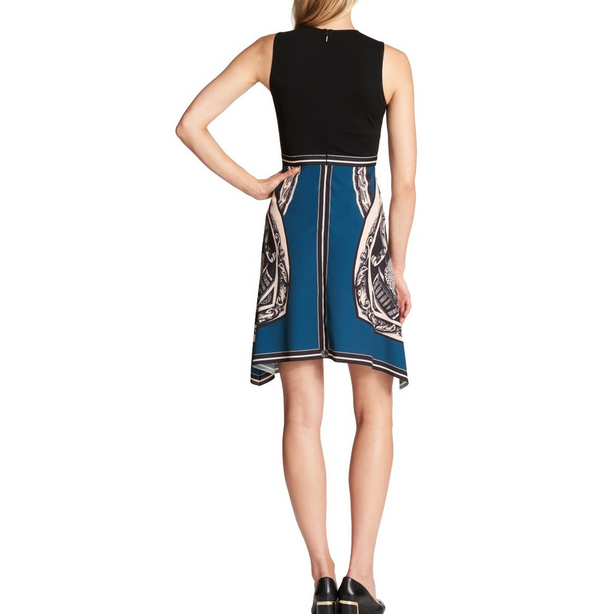 DKNY-NEW-Women-039-s-Printed-Wear-To-Work-Fit-amp-Flare-Dress-TEDO thumbnail 4