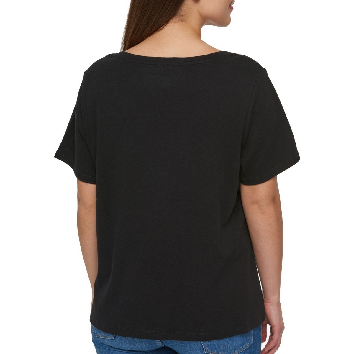 TOMMY-HILFIGER-NEW-Women-039-s-Plus-Size-Cotton-Logo-Print-Casual-Shirt-Top-TEDO thumbnail 4