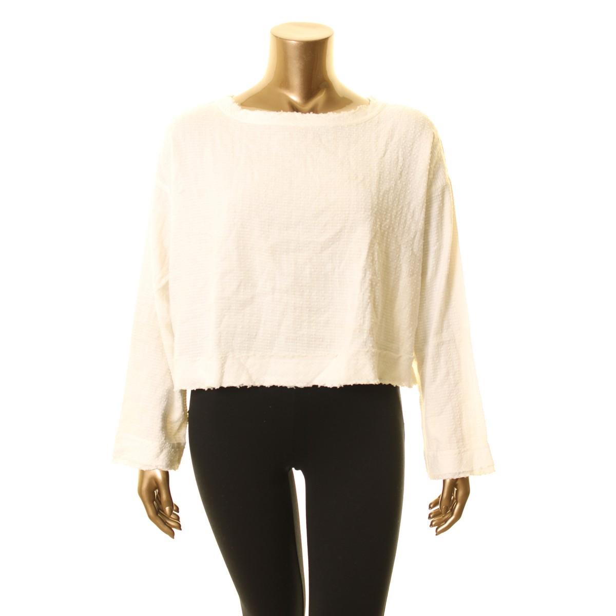 ALFANI NEW Women/'s Textured High-low Split-back Blouse Shirt Top TEDO