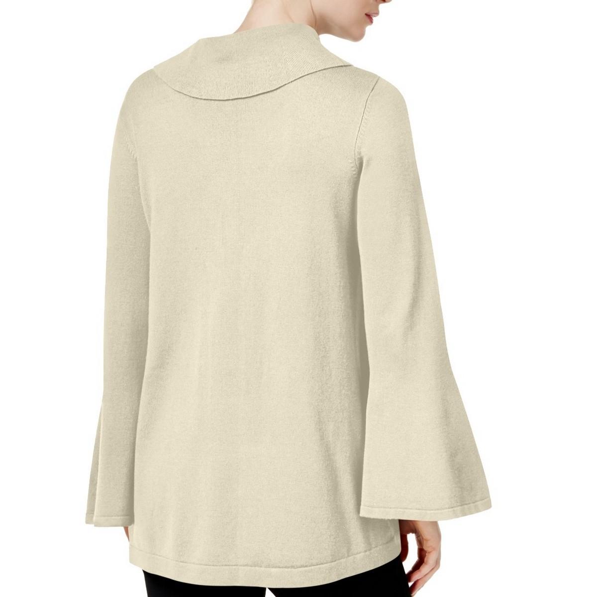 ALFANI-NEW-Women-039-s-Bell-sleeve-Cowl-Neck-Sweater-Top-TEDO thumbnail 4