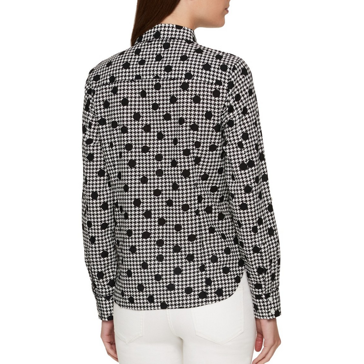 TOMMY-HILFIGER-NEW-Women-039-s-Printed-Utility-Button-Down-Shirt-Top-TEDO thumbnail 6