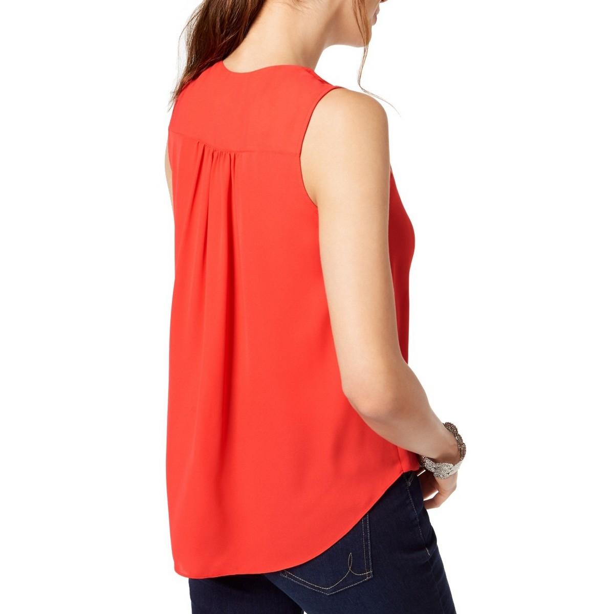 INC-NEW-Women-039-s-Hardware-V-Neck-Surplice-Blouse-Shirt-Top-TEDO thumbnail 5