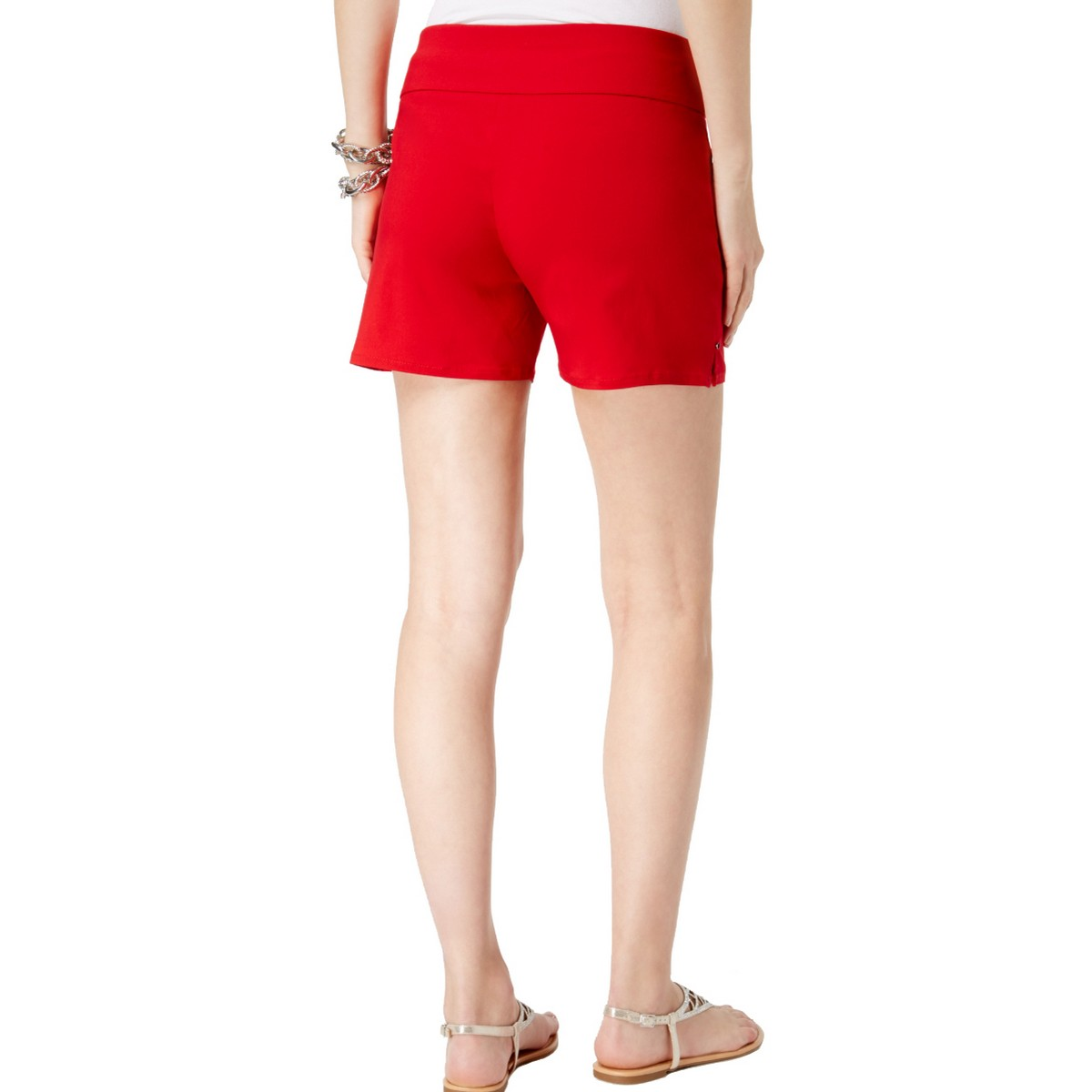INC-NEW-Women-039-s-Pull-On-Curvy-Fit-Front-Pockets-Khaki-Chino-Shorts-TEDO thumbnail 8