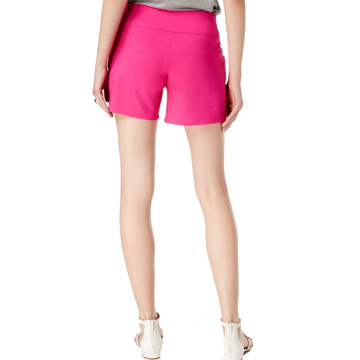 INC-NEW-Women-039-s-Pull-On-Curvy-Fit-Front-Pockets-Khaki-Chino-Shorts-TEDO thumbnail 6