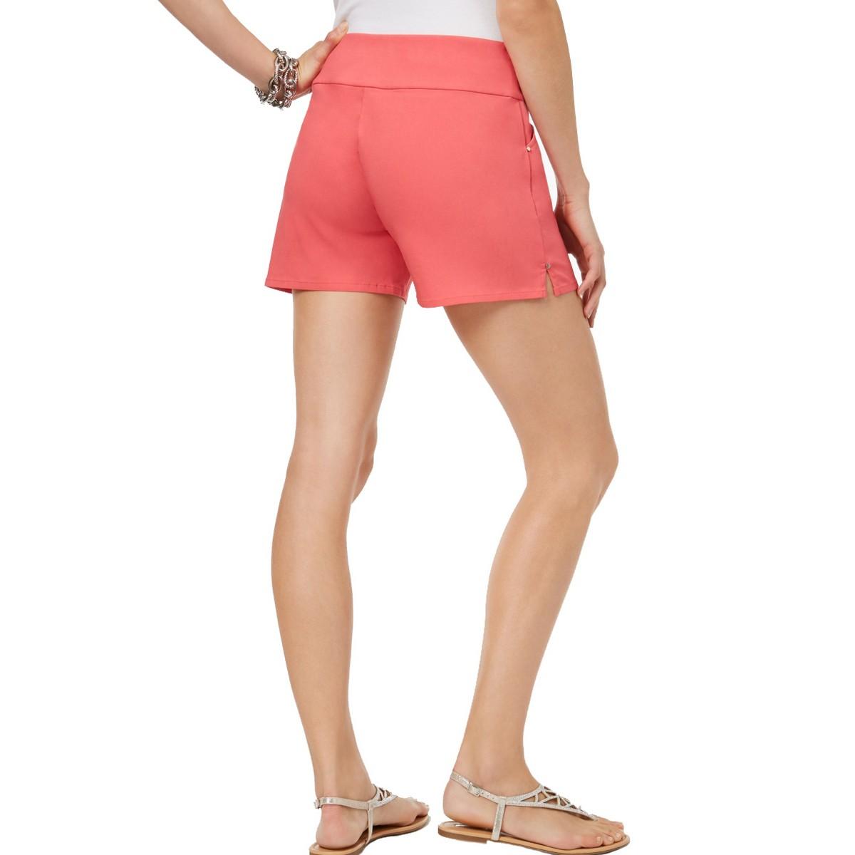 INC-NEW-Women-039-s-Pull-On-Curvy-Fit-Front-Pockets-Khaki-Chino-Shorts-TEDO thumbnail 4