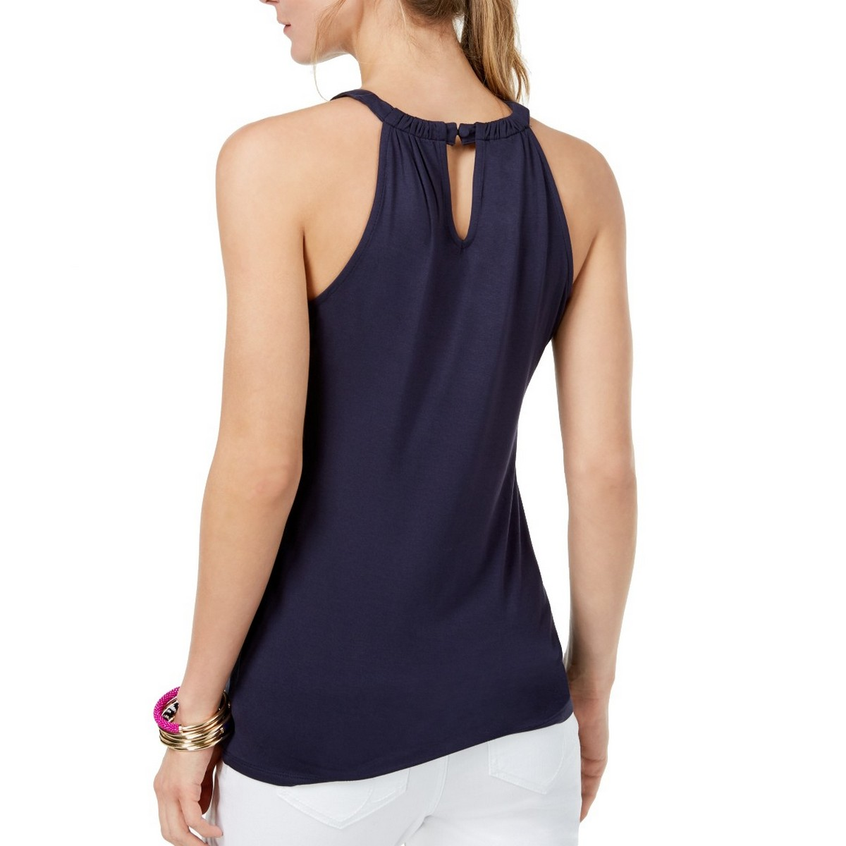INC-NEW-Women-039-s-Sleeveless-Illusion-Halter-Blouse-Shirt-Top-TEDO thumbnail 4