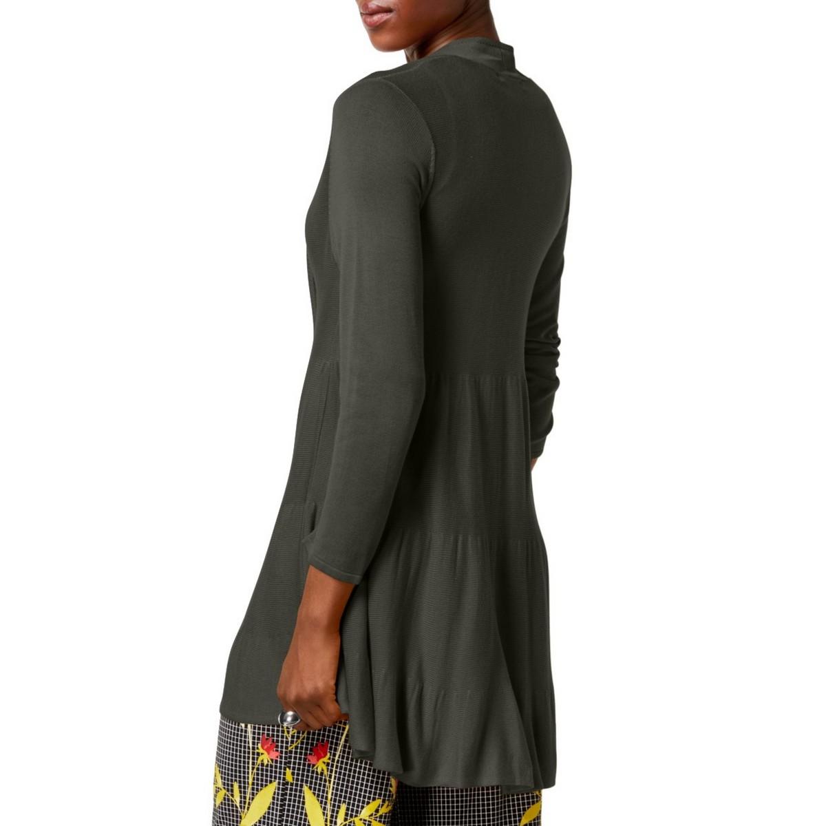 ALFANI-NEW-Women-039-s-Tiered-Open-Front-Cardigan-Sweater-Top-TEDO thumbnail 4