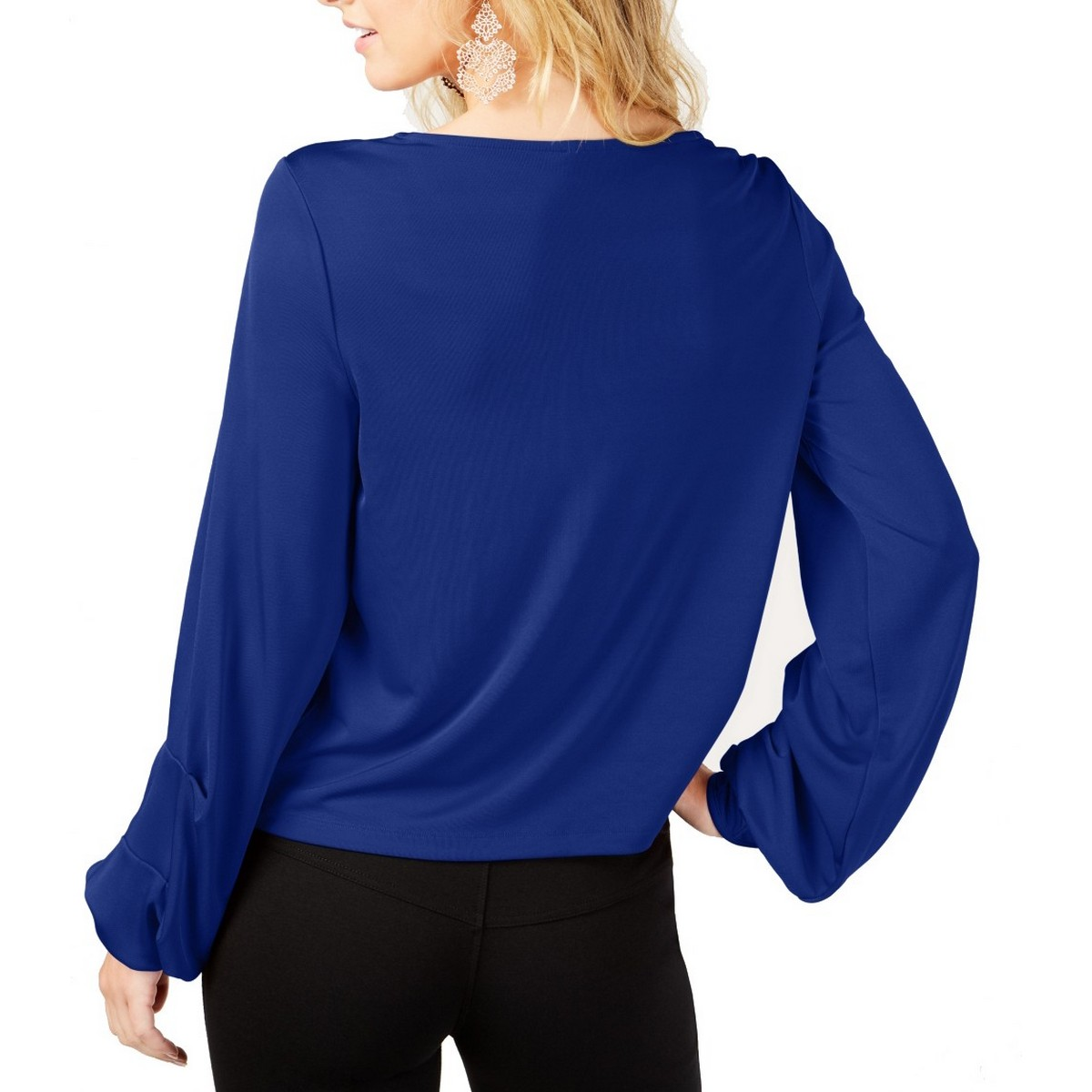 INC-NEW-Women-039-s-Balloon-Sleeve-Blouse-Shirt-Top-TEDO thumbnail 4