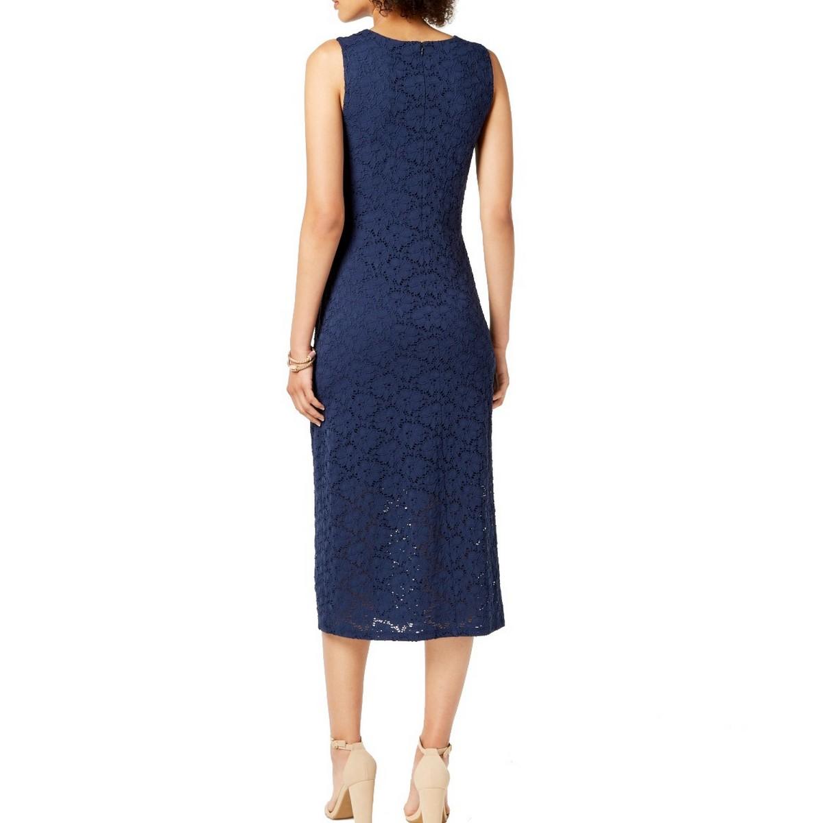 ALFANI-NEW-Women-039-s-Sleeveless-Lace-Midi-Dress-TEDO thumbnail 7
