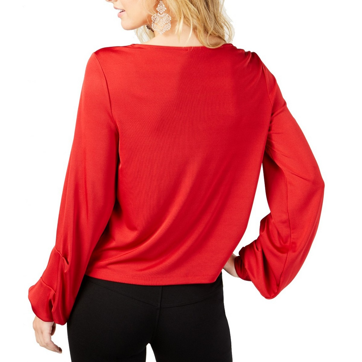 INC-NEW-Women-039-s-Balloon-Sleeve-Blouse-Shirt-Top-TEDO thumbnail 6