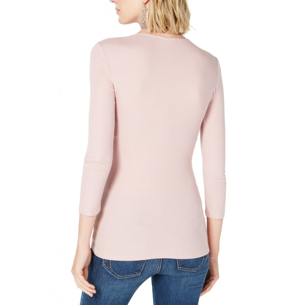 INC-NEW-Women-039-s-Ribbed-V-neck-Blouse-Shirt-Top-TEDO thumbnail 5