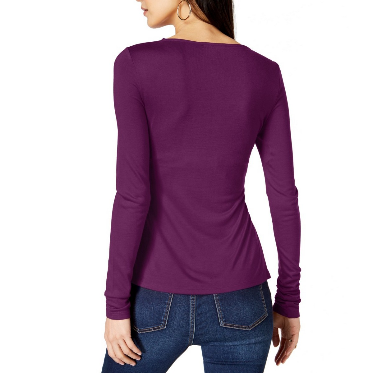 INC-NEW-Women-039-s-Solid-Long-Sleeve-Cowl-neck-Blouse-Shirt-Top-TEDO thumbnail 5
