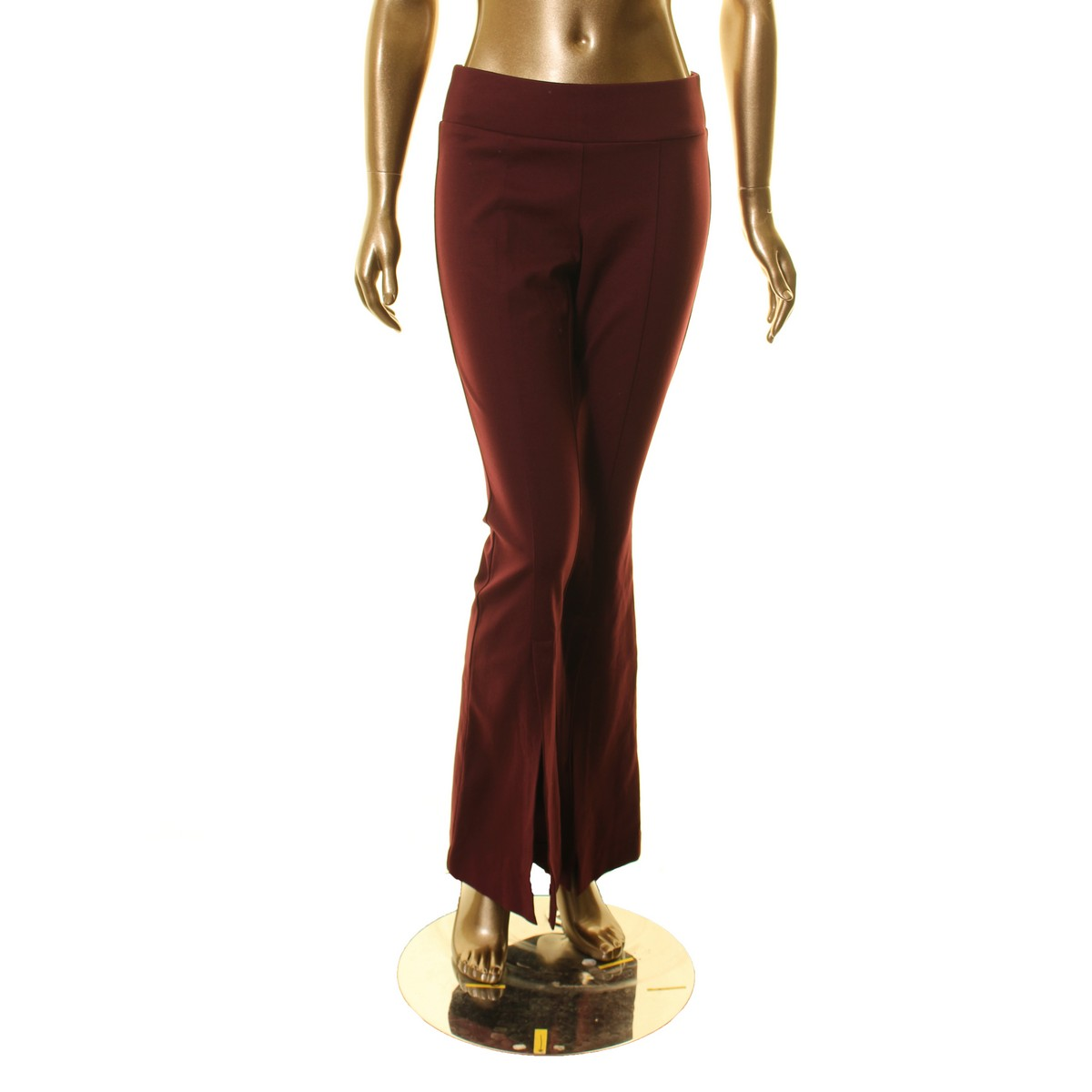 INC Women/'s Split-leg Mid Rise Regular Pull On Flare Pants TEDO
