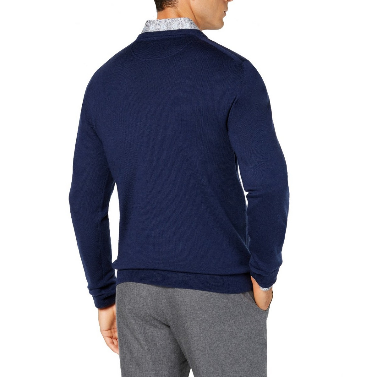 TASSO-ELBA-NEW-Men-039-s-100-Extrafine-Merino-Wool-V-Neck-Sweater-TEDO thumbnail 3