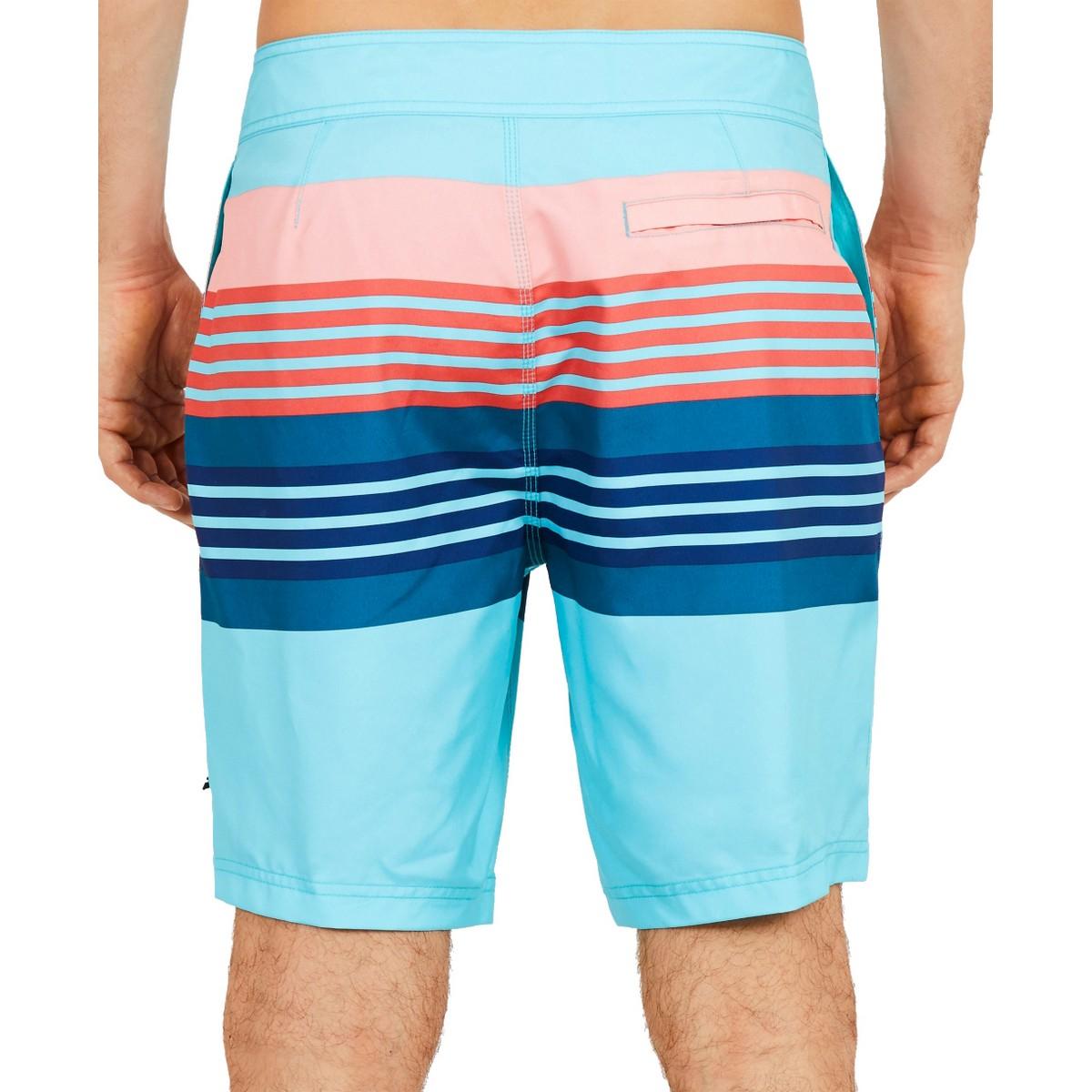 NAUTICA-NEW-Men-039-s-Engineered-Sun-Stripe-Quick-Dry-Trunk-Swimwear-Shorts-TEDO thumbnail 4