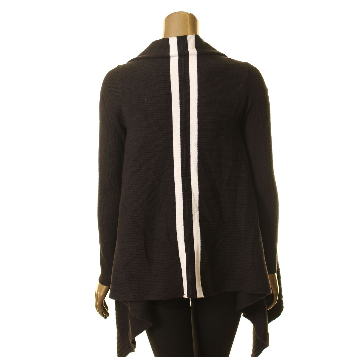 INC-NEW-Women-039-s-Handkerchief-hem-Open-front-Ribbed-Cardigan-Sweater-Top-TEDO thumbnail 4