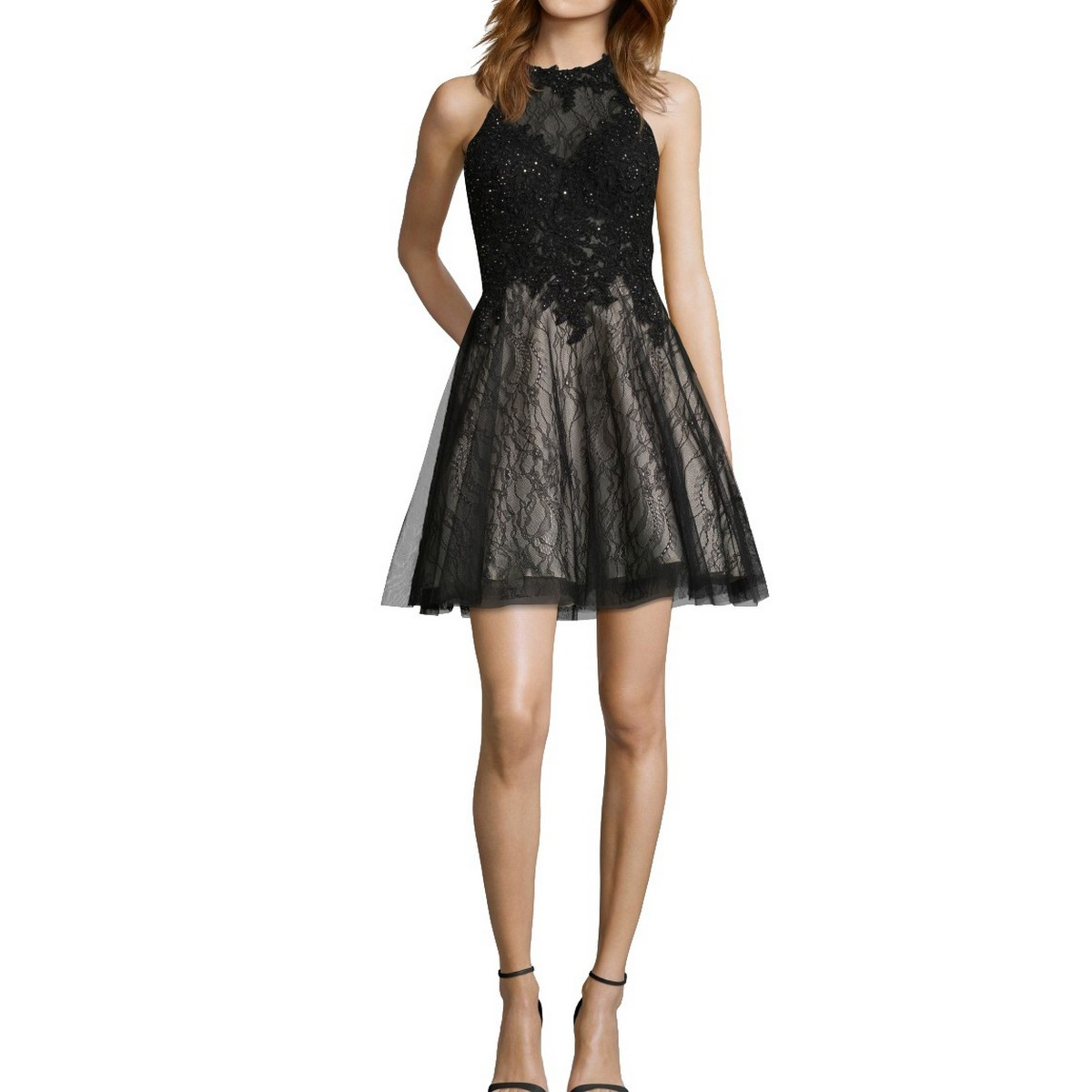 XSCAPE NEW Women/'s Plus Floral Brocade Fit /& Flare Dress TEDO