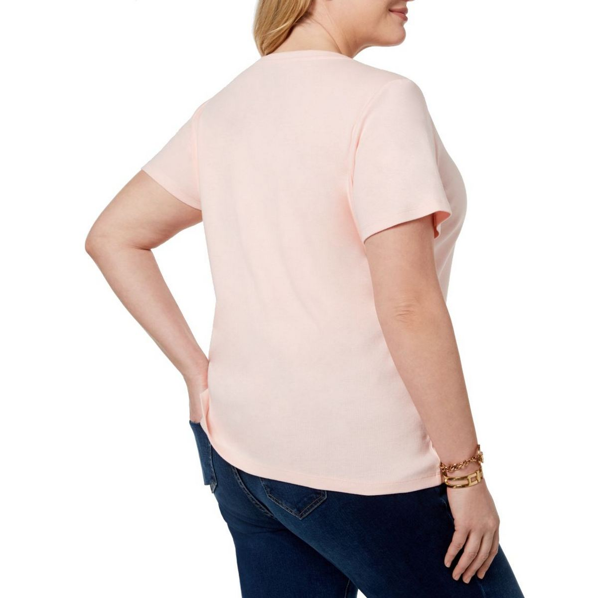 TOMMY-HILFIGER-NEW-Women-039-s-Plus-Size-Cotton-Logo-Print-Casual-Shirt-Top-TEDO thumbnail 6